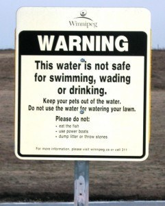 water quality sign at Kilcona